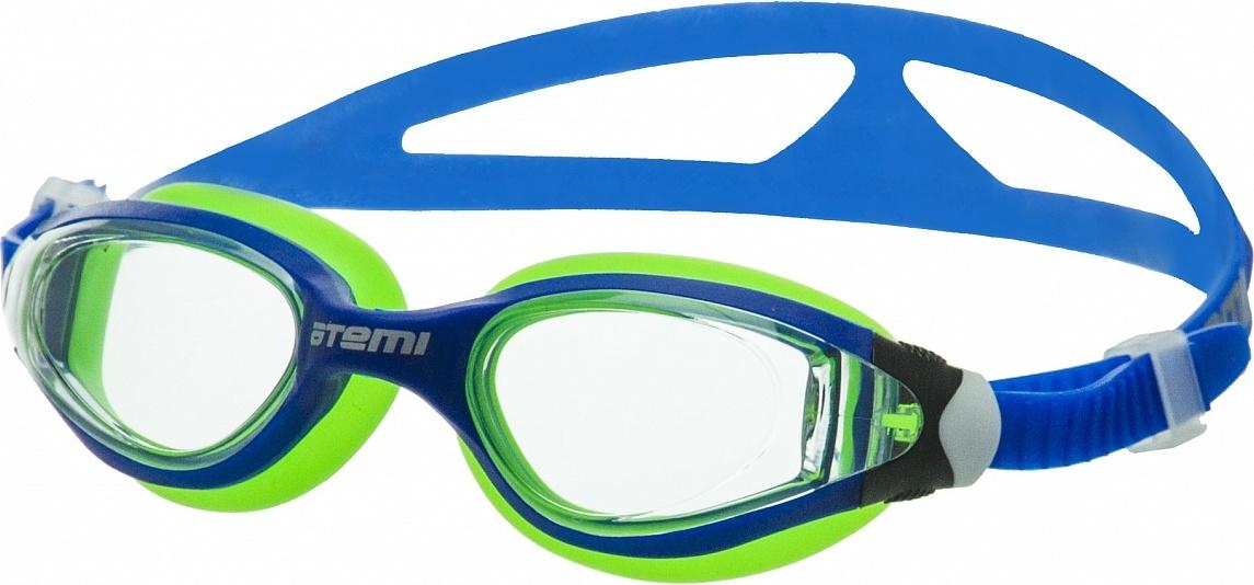 Очки для плавания Atemi, дет., силикон (син/салат), B601 B601 по цене 620