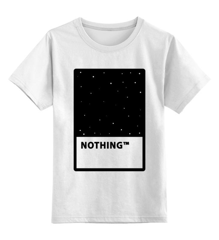 Купить 0000002646520, Детская футболка Printio Nothing цв.белый р.128,