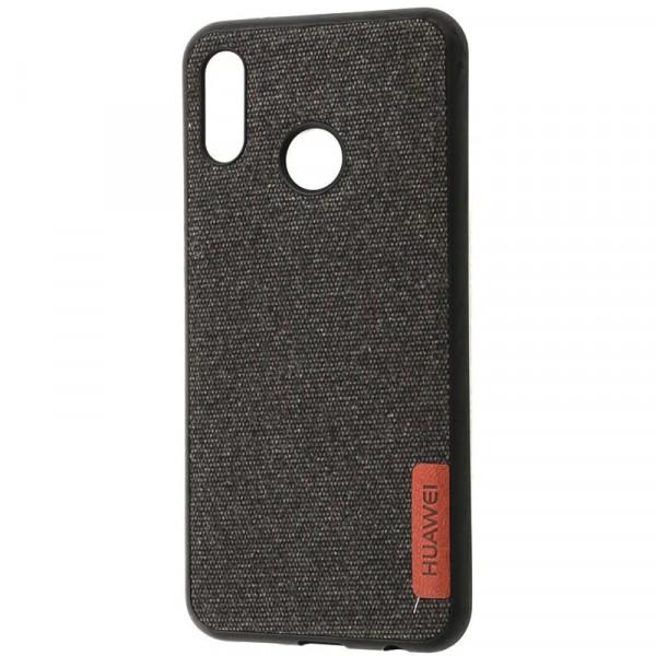 TPU чехол Label Case Textile для Huawei P20 Lite (Черный) Epik