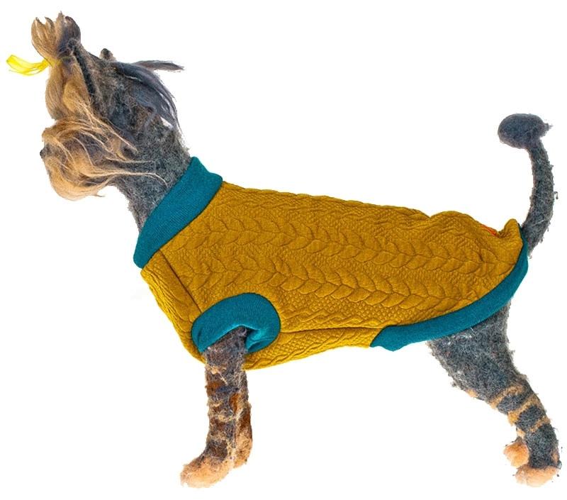 Свитшот для собак Happy Puppy унисекс горчичный размер L (3).