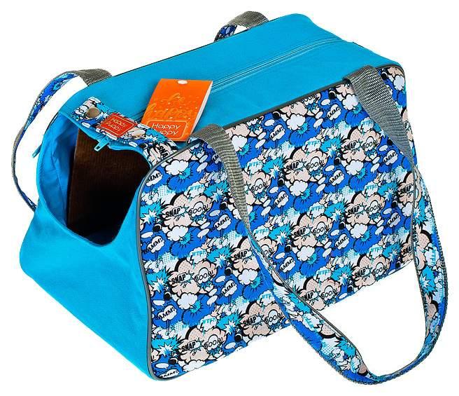 Сумка-переноска для собак Happy Puppy Boom синяя 36х23х20 см.