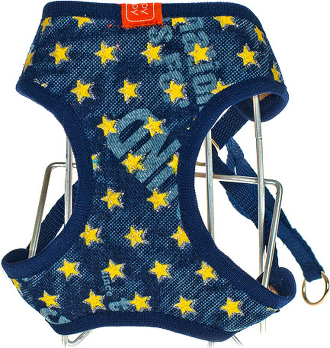 Шлейка для собак Happy Puppy Star синяя размер XL (4).