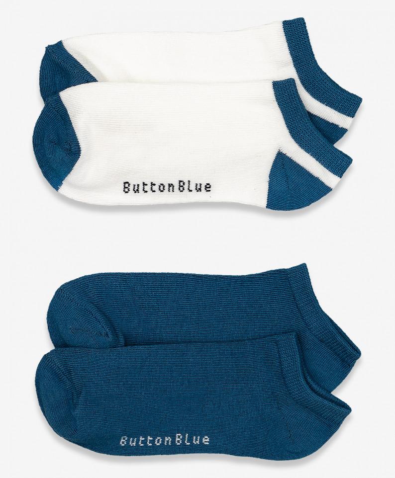 Купить 120BBBU85020259, Комплект носков 2 пары для мальчиков Button Blue, цв. синий, р.22, Носки для мальчиков