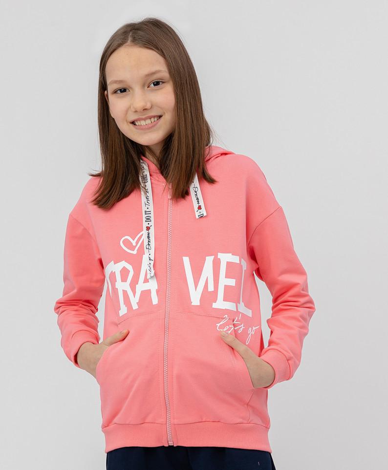 Купить 120BBGC16011200, Толстовка для девочек Button Blue, цв. розовый, р.104, Толстовки для девочек