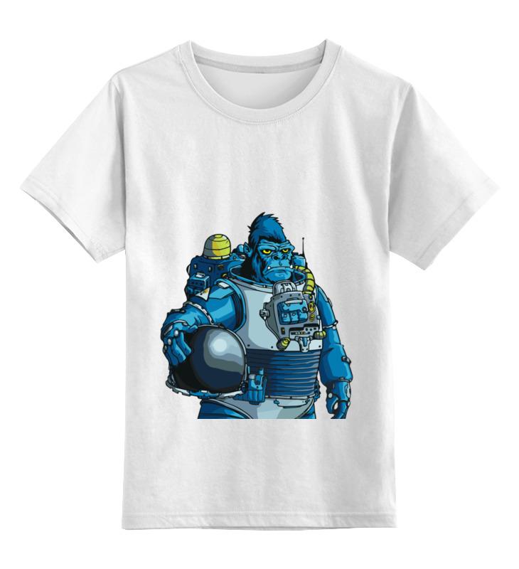 Детская футболка Printio Космическая горилла цв.белый р.128 0000002818960 по цене 890