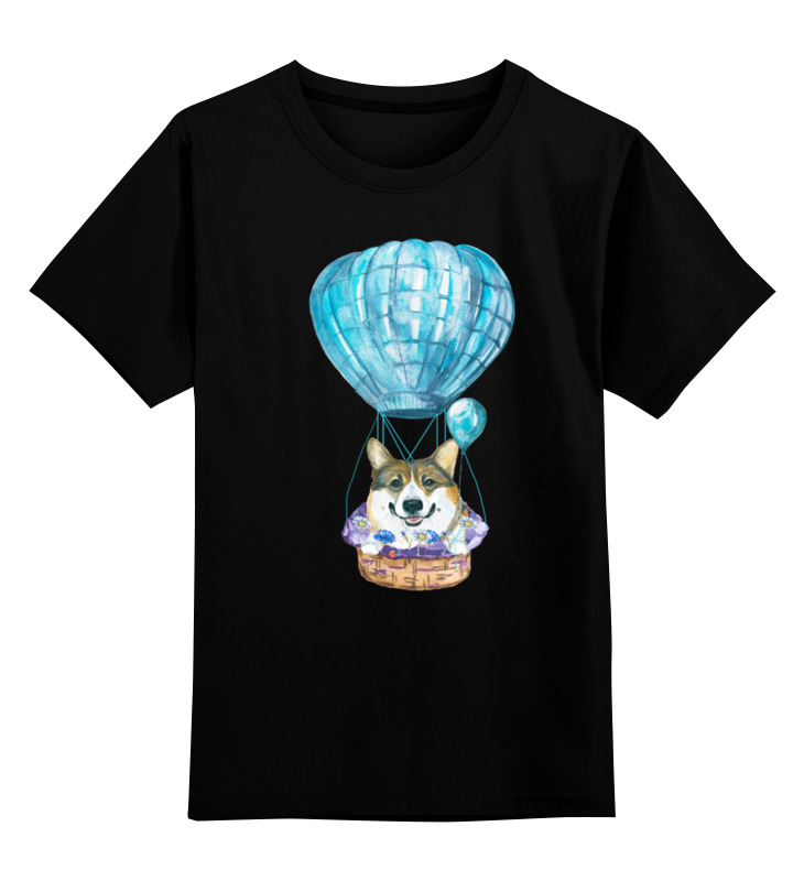 Детская футболка Printio На воздушном шаре цв.черный р.128 0000002829852 по цене 990