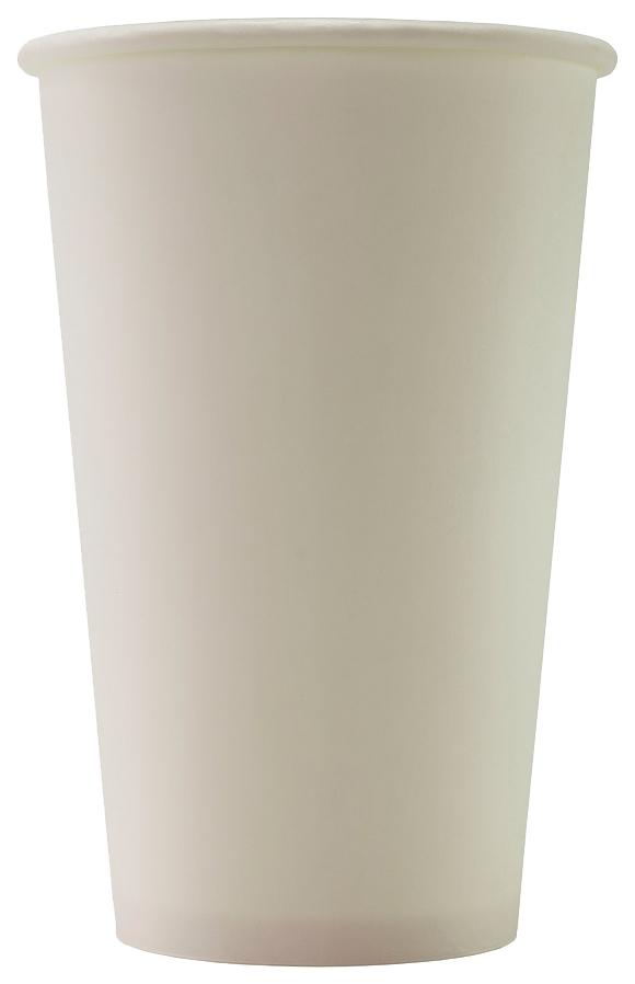 Стаканы Формация одноразовые бумажные однослойные белые 50*400