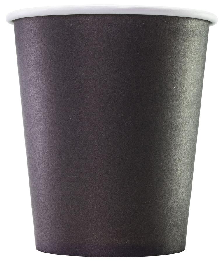 Стаканы Формация одноразовые бумажные однослойные черные 75*250