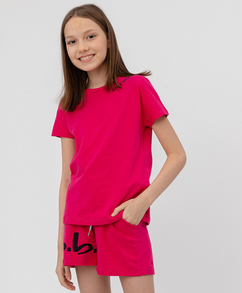 Купить 120BBGF12043519, Комплект из 2 футболок для девочек Button Blue, цв. розовый, р.110,