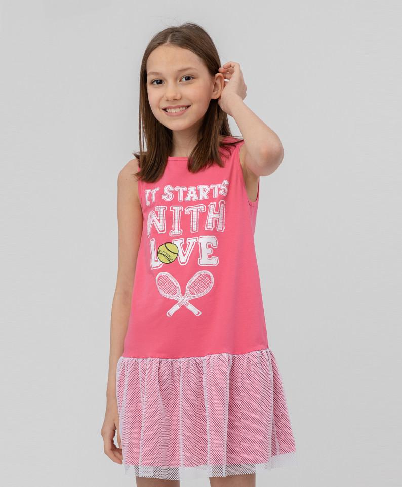 Купить 120BBGF50031200, Платье для девочек Button Blue, цв. розовый, р.116,