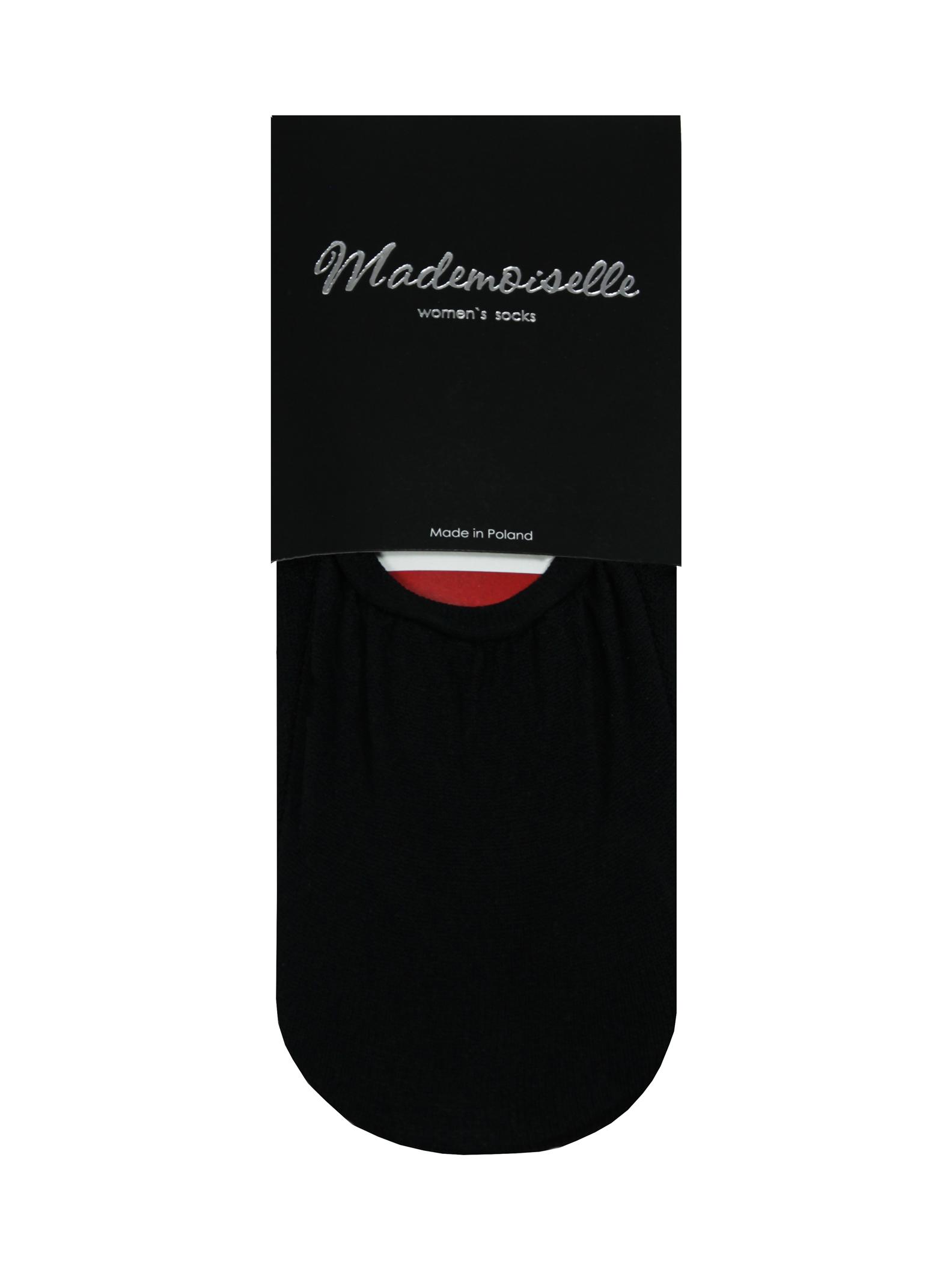 Комплект капроновых подследников женский Mademoiselle LS37 (2 p.) черный 36-38