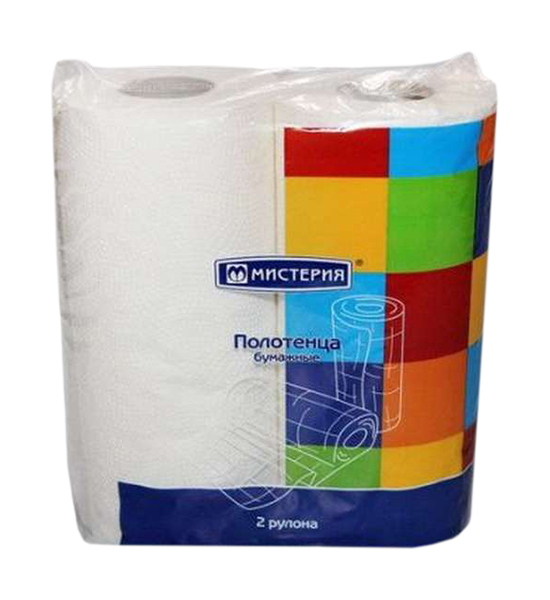 Полотенца Мистерия новая линия бумажные однослойные белые