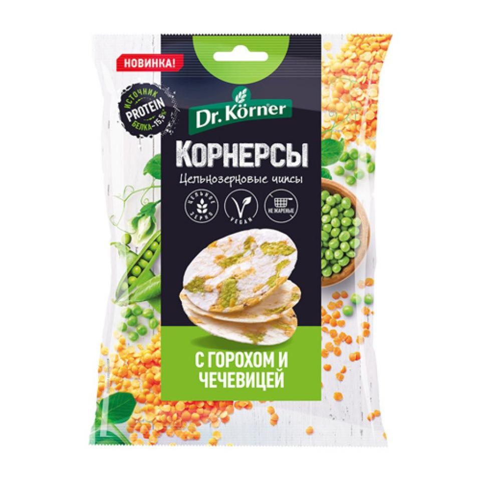 Чипсы цельнозерновые рисовые c горошком и чечевицей, 50 г * 14 шт БЛОК