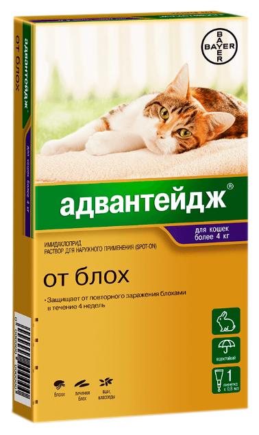 Капли для кошек против блох, власоедов, вшей