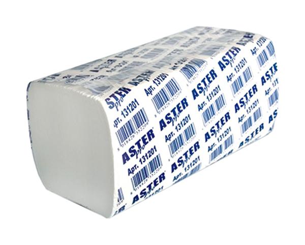 Полотенца бумажные листовые aster pro 131201