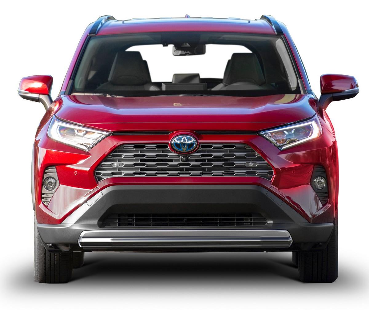 Защита переднего бампера короткая d57 Rival для Toyota Rav4 V XA50 2019-н.в., нерж. сталь,