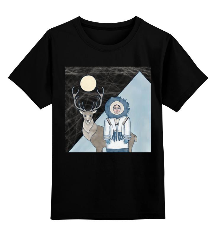 Купить 0000002827231, Детская футболка Printio The north цв.черный р.116,