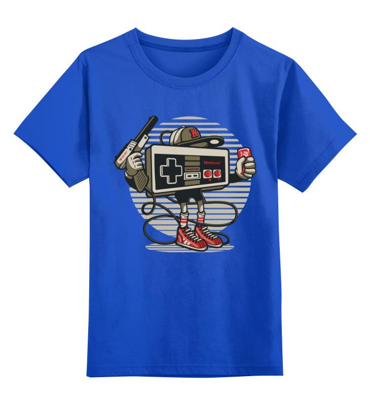 Детская футболка Printio Джойстик нинтендо цв.синий р.116 0000002832478 по цене 990