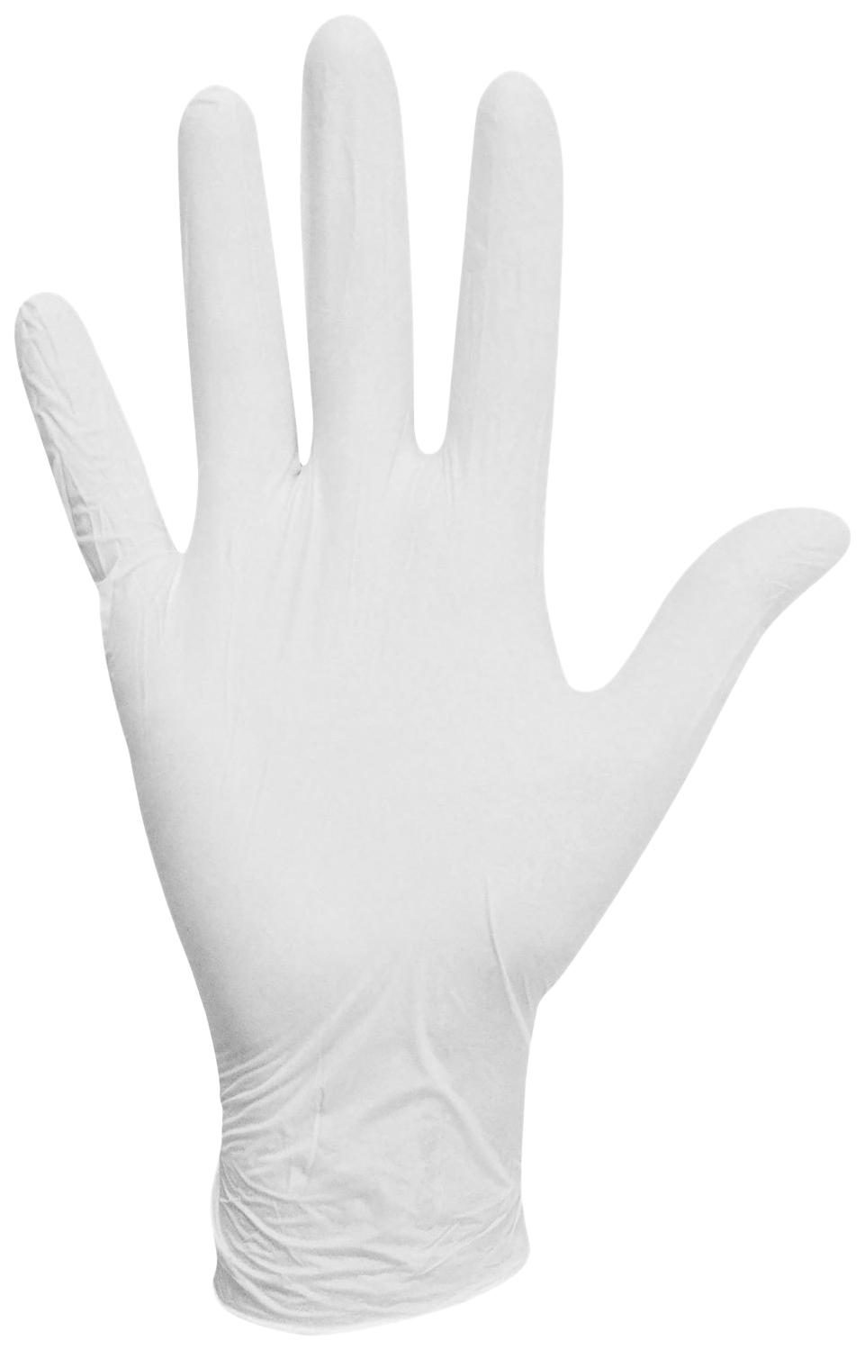 Перчатки латексные белые, 50 пар (100 шт.),