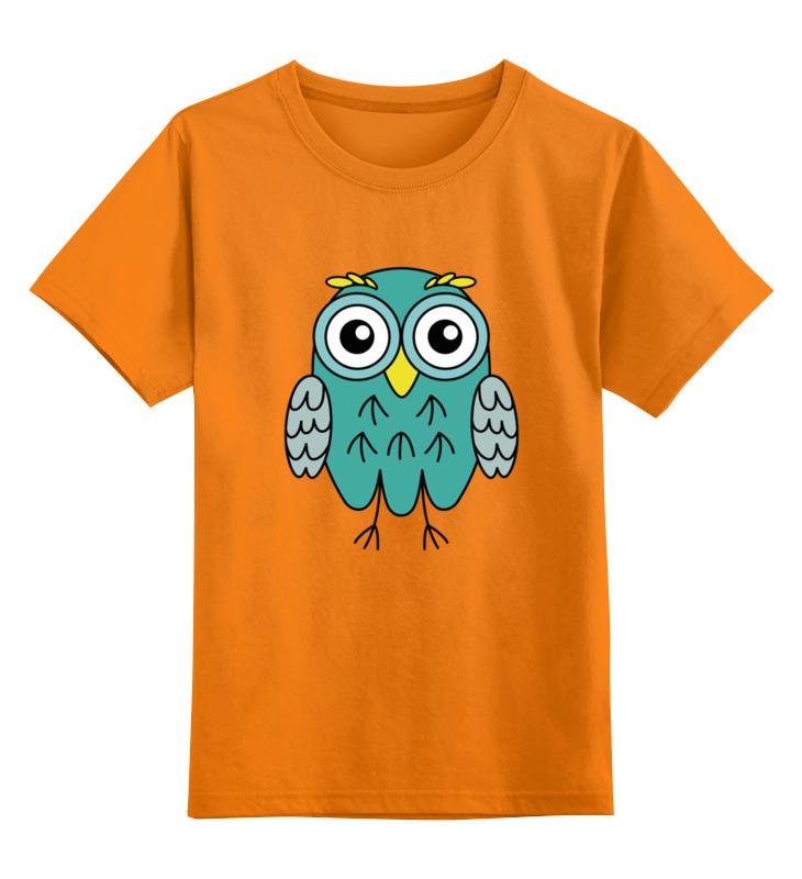 Детская футболка Printio Мятная сова цв.оранжевый р.128 0000002640682 по цене 990