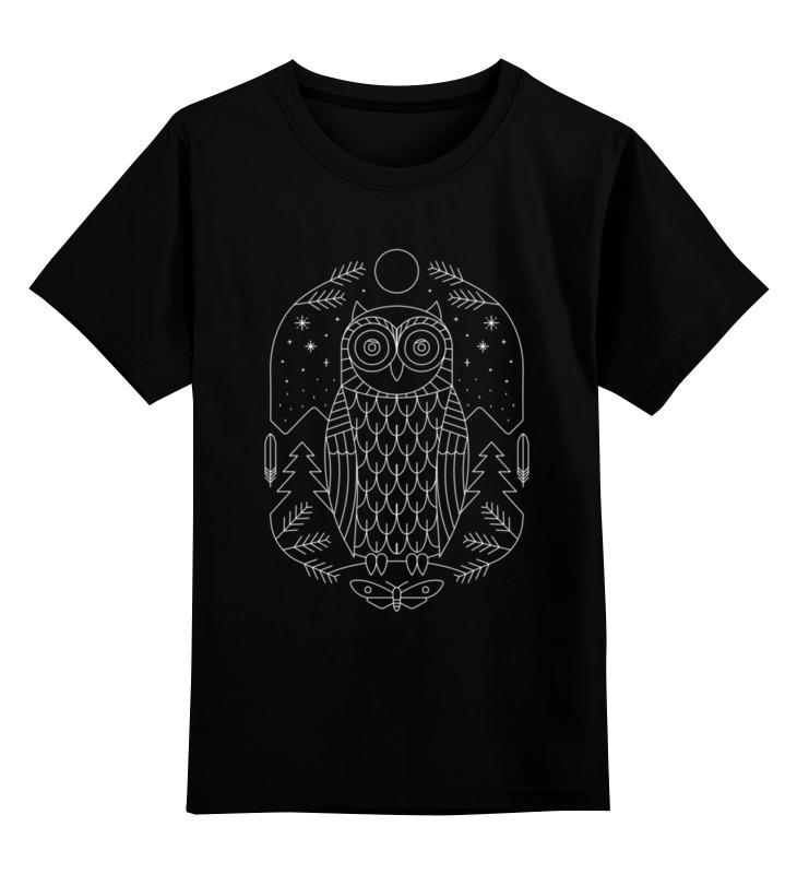 Купить 0000002646540, Детская футболка Printio Ночной страж цв.черный р.128,