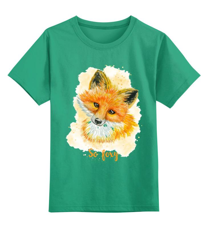 Детская футболка Printio Лисичка цв.зеленый р.128 0000002660147 по цене 990