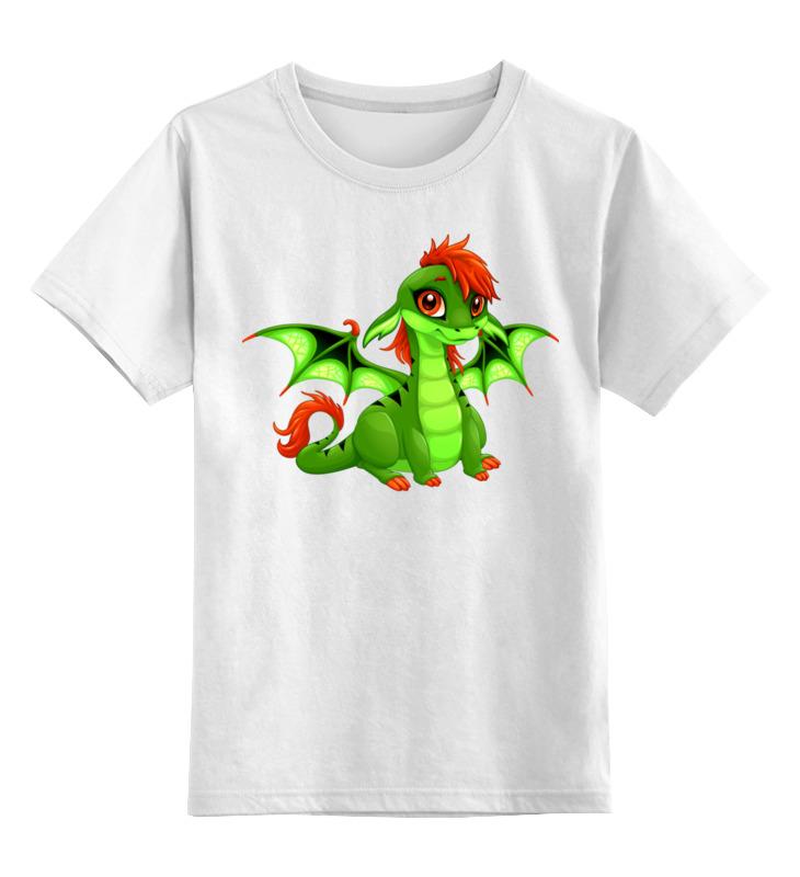 Детская футболка Printio Дракоша цв.белый р.116 0000002655883 по цене 790
