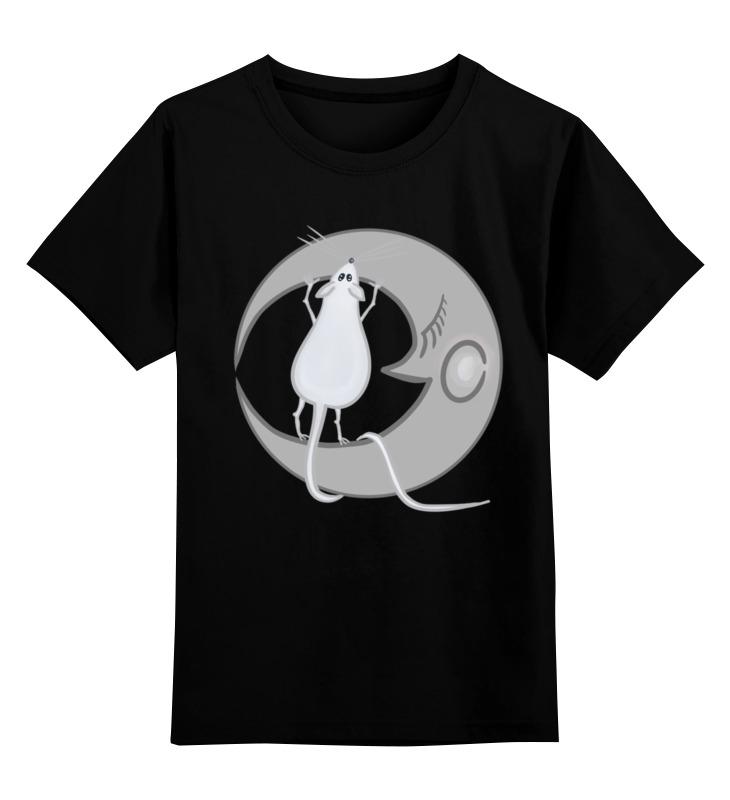 Детская футболка Printio Китайский гороскоп - год крысы цв.черный р.116 0000002658807 по цене 842