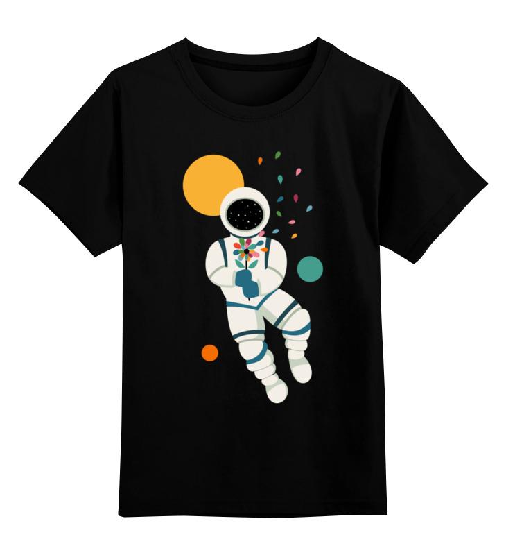 Купить 0000002691982, Детская футболка Printio Космонавт цв.черный р.116,
