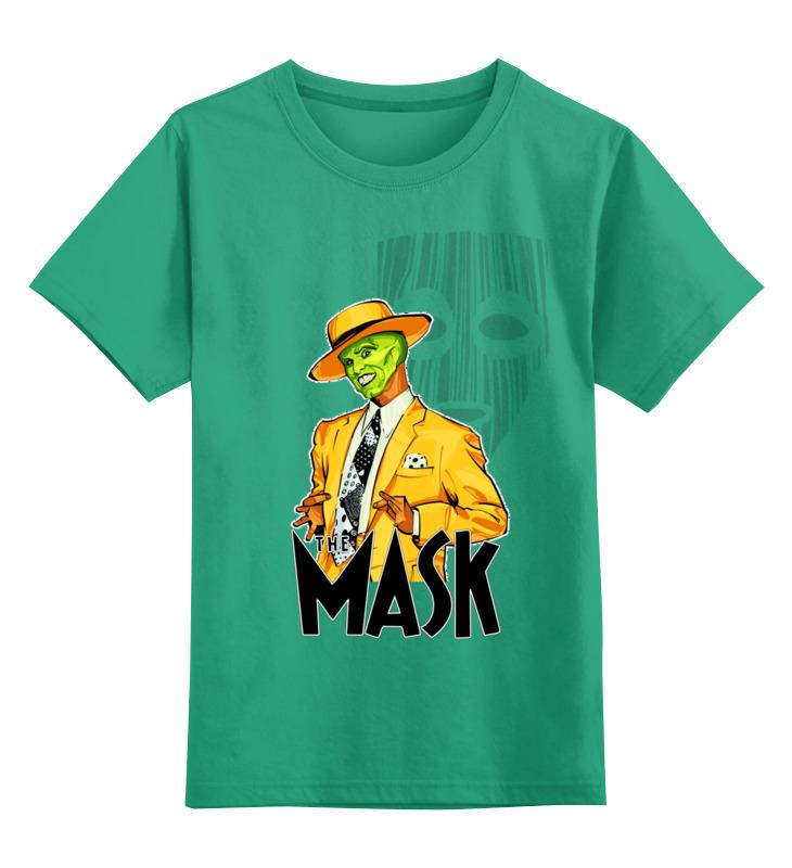 Купить 0000002735922, Детская футболка Printio The mask цв.зеленый р.116,