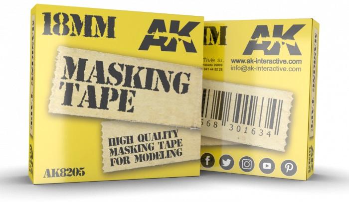 Купить Маскирующая лента AK Interactive MASKING TAPE: 18мм,