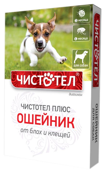 Ошейник для собак против блох, власоедов, вшей, клещей Чистотел Плюс черный, 35 см