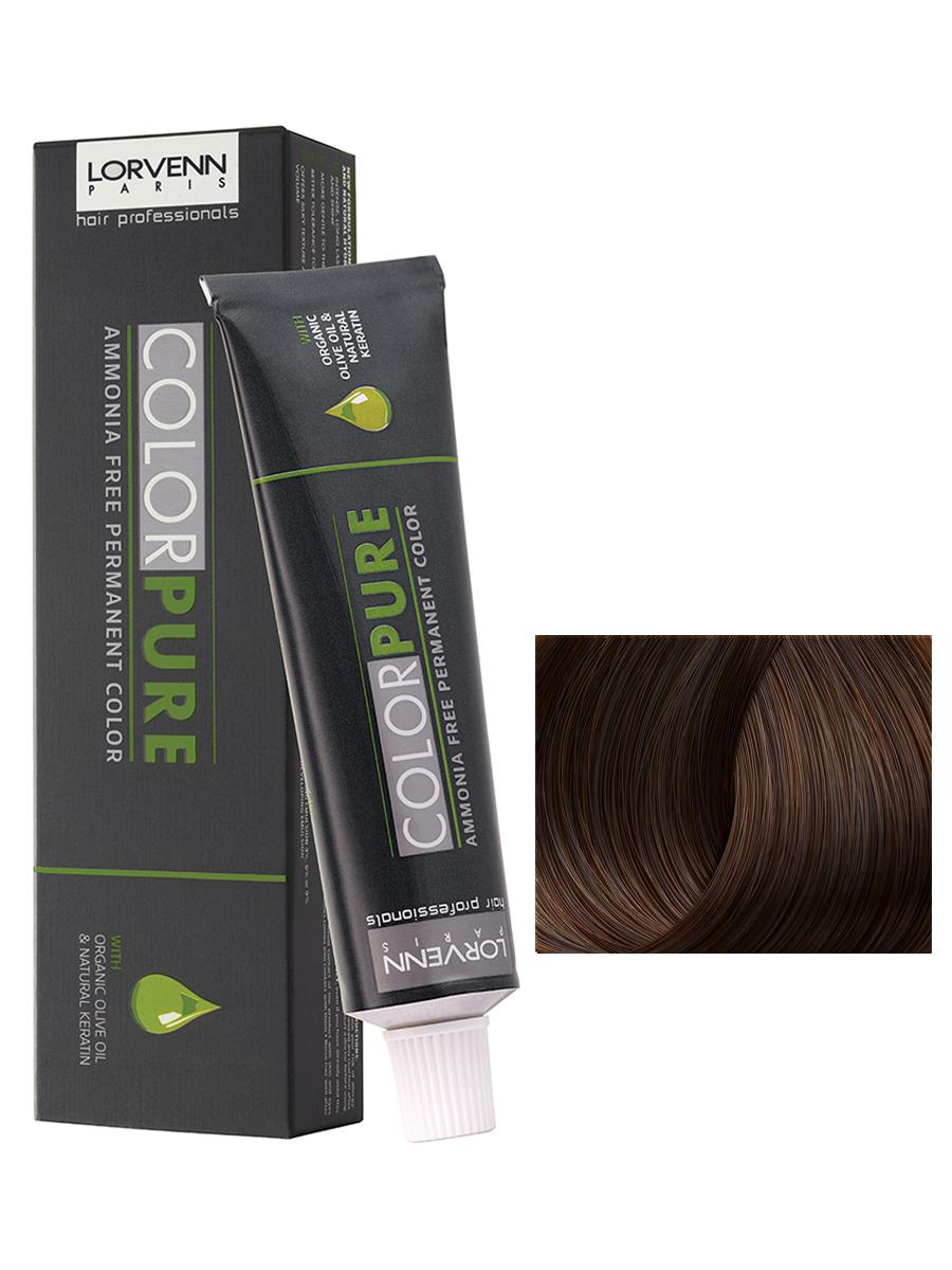 Купить Краска COLOR PURE для волос LORVENN HAIR 7.75 палисандр светлый 50 мл, LORVENN HAIR PROFESSIONALS