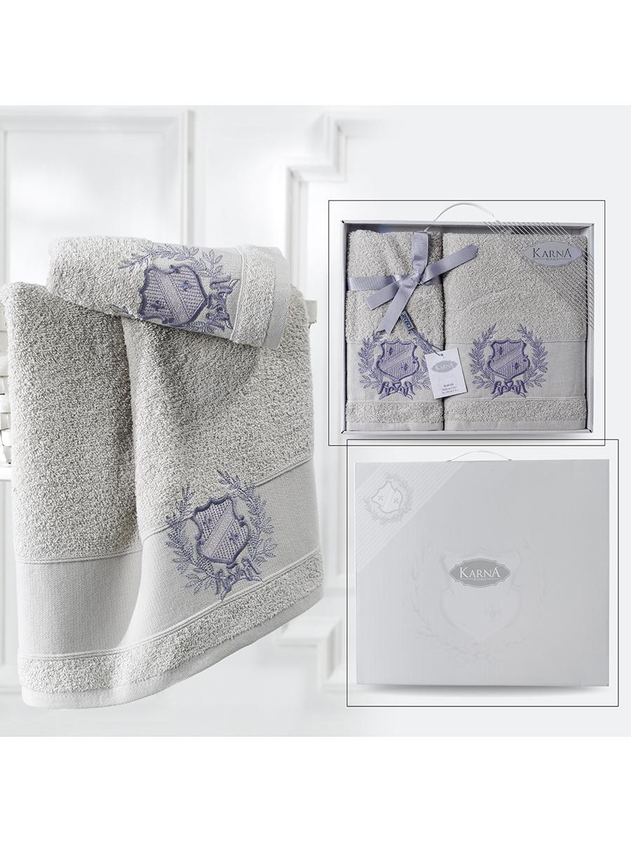Комплект махровых полотенец Karna Davis 50х90 +70х140 бежевый