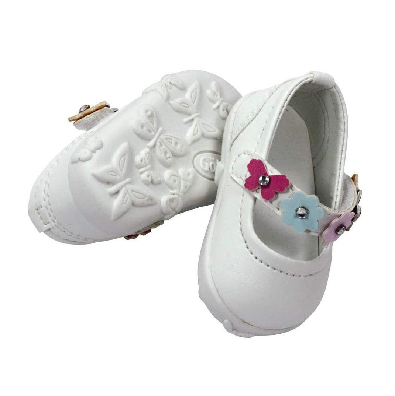 Купить Обувь для кукол Gotz туфли белые с цветочным ремешком, 42-50 см,