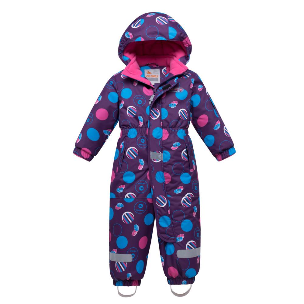 Комбинезон для девочки Valianly 8906F фиолетовый,