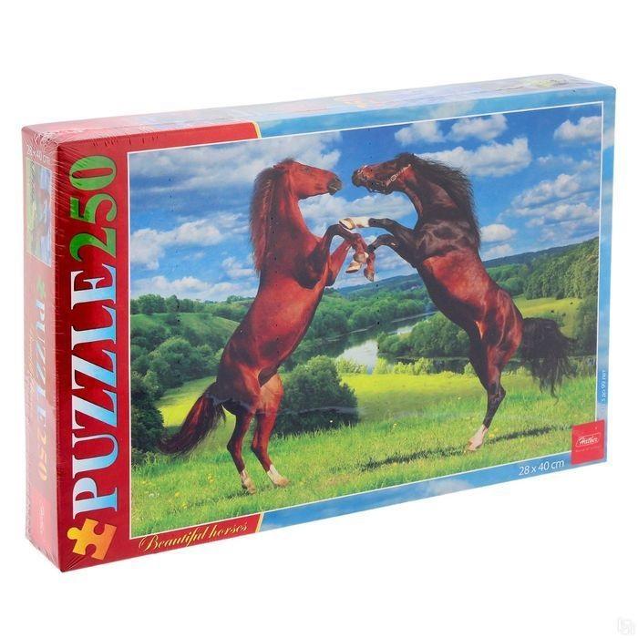 Купить Пазл Hatber Прекрасные лошади, 250 элементов, Пазлы