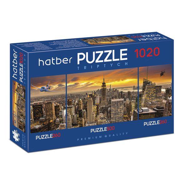 Купить Пазл-триптих Hatber Premium City Style, 260+500+260 элементов, Пазлы
