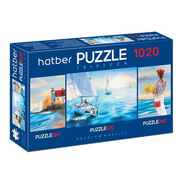 Купить Пазл-триптих Hatber Premium Акварель, 260+500+260 элементов, Пазлы