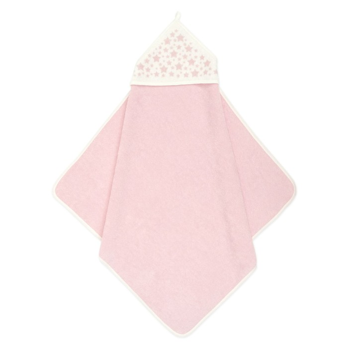 Пеленка-полотенце для купания Фабрика Бамбук розовое, 75х75