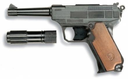 Купить Пистолет с глушителем Edison Lionmatic, 26.5 см, Игрушечные пистолеты