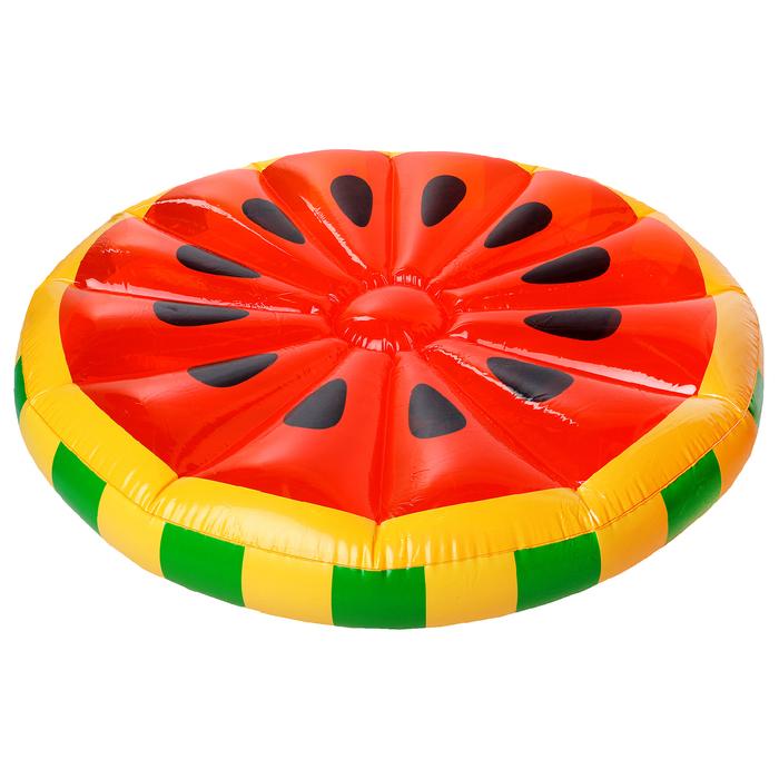 Купить Плот для плавания Sima-Land Арбуз 143 см, Надувные матрасы детские для плавания