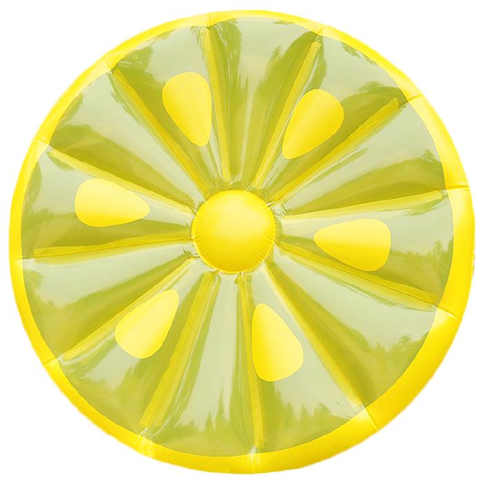 Купить Плот для плавания Sima-Land Лимон 143 см, Надувные матрасы детские для плавания