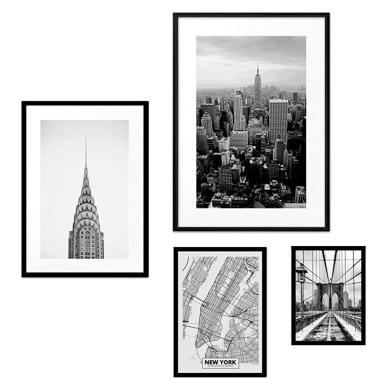 Набор постеров  Коллаж Нью Йорк