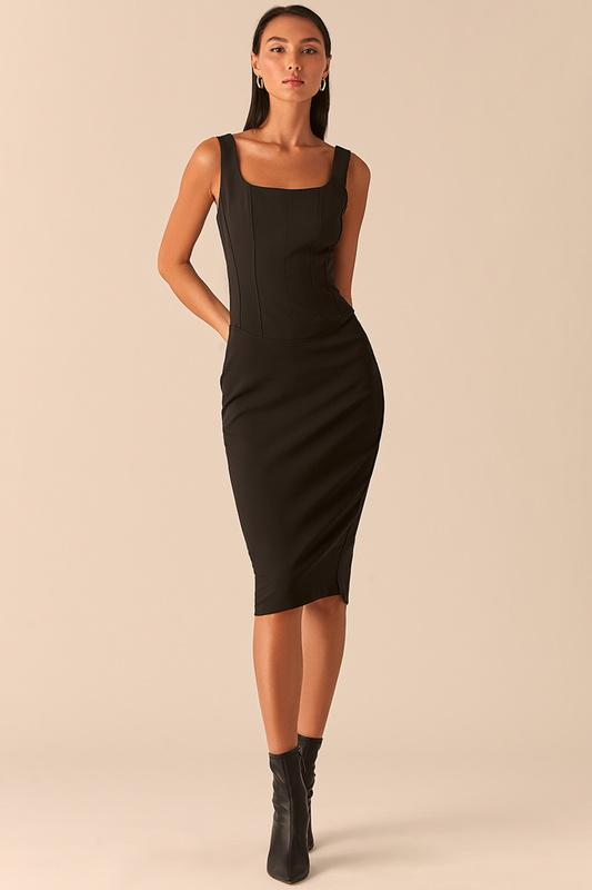 Платье майка женское LOVE REPUBLIC 0358224524/ черные