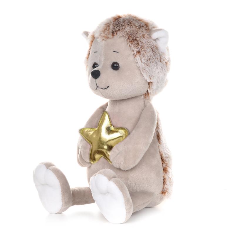 Купить Мягкая игрушка Романтичный ежик с золотой звездочкой, 25 см, арт. MT-GU052019-1-25, Maxitoys,