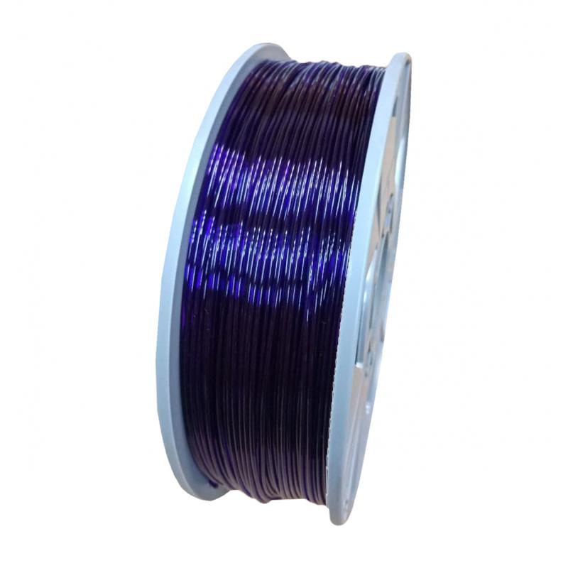 PETG пруток 1.75мм прозрачный Фиолетовый 1кг, катушка 4637-1