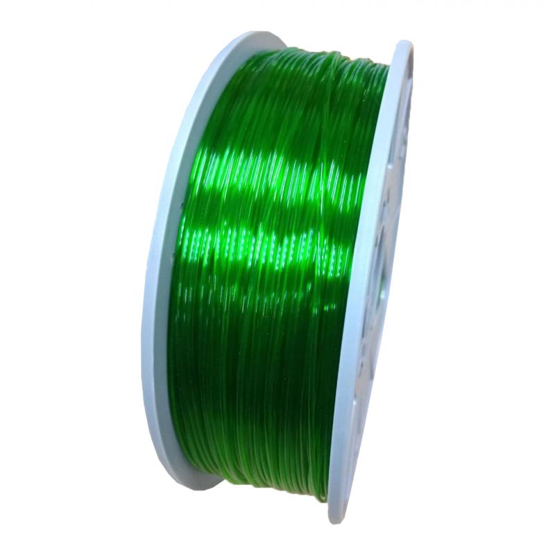 PETG пруток 1.75мм прозрачный Зелёный 1кг, катушка 4644-1