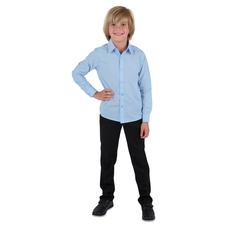 Рубашка для детей Leader Kids ЛКЗ22431023134те02У голубой 134