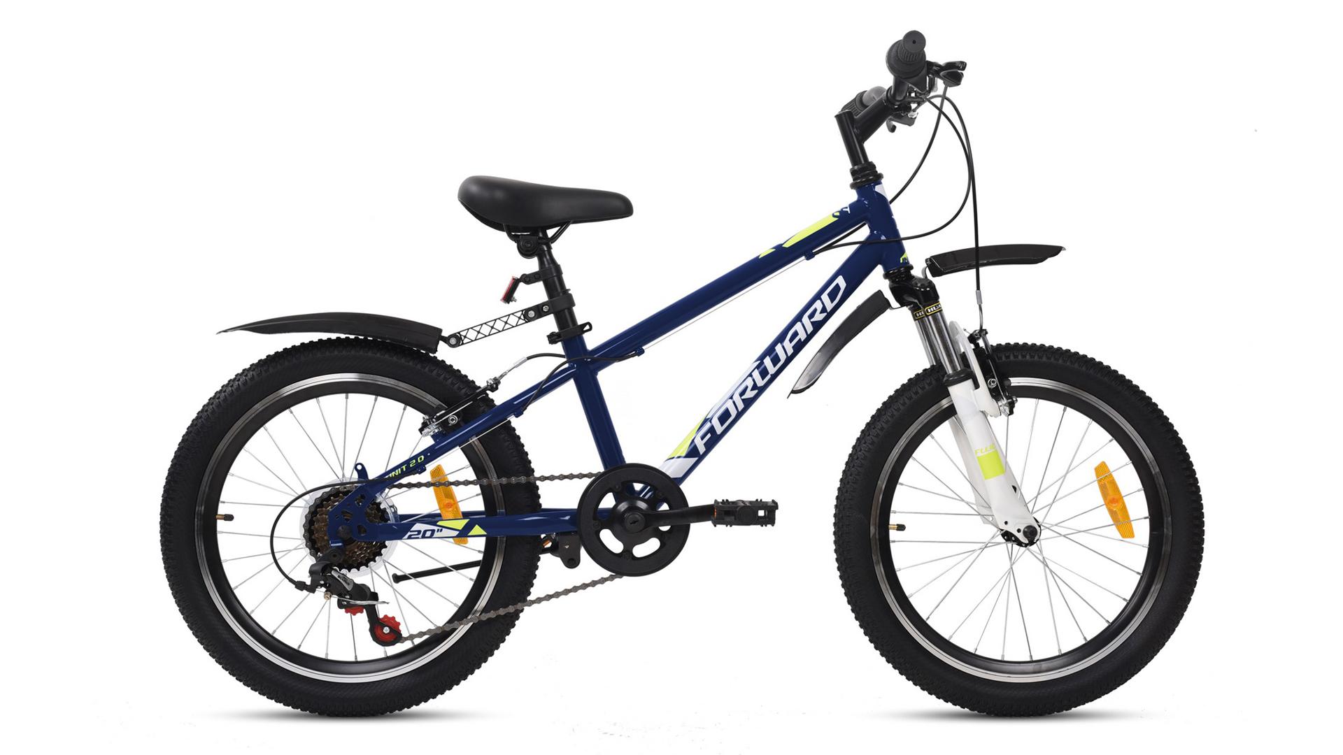 """Горный велосипед Forward UNIT 20"""" 2.2 2021 рост 10.5 темно-синий/белый UNIT 20 2.2"""